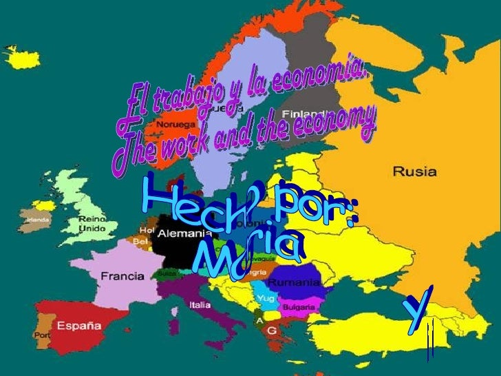 Los sectores de producción en Europa.    Production sectors in Europe.