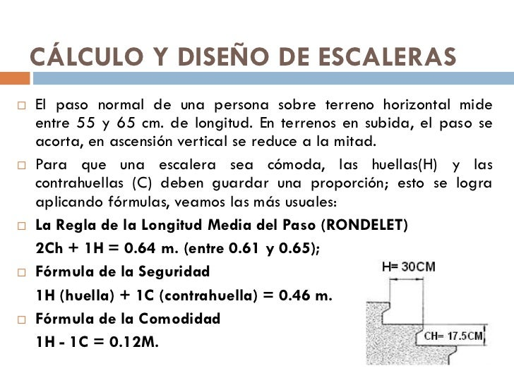 Tema 14 escaleras 1 for Formula escalera