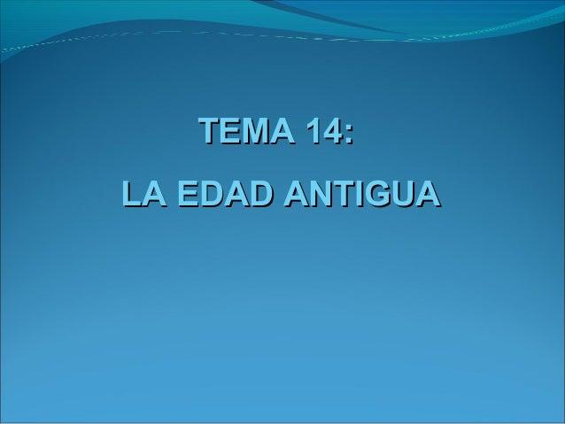 Tema 14 la edad antigua