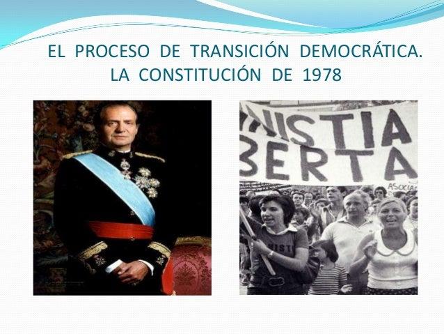 Tema  15.  El proceso de transformación democrática. La constitución de 1978