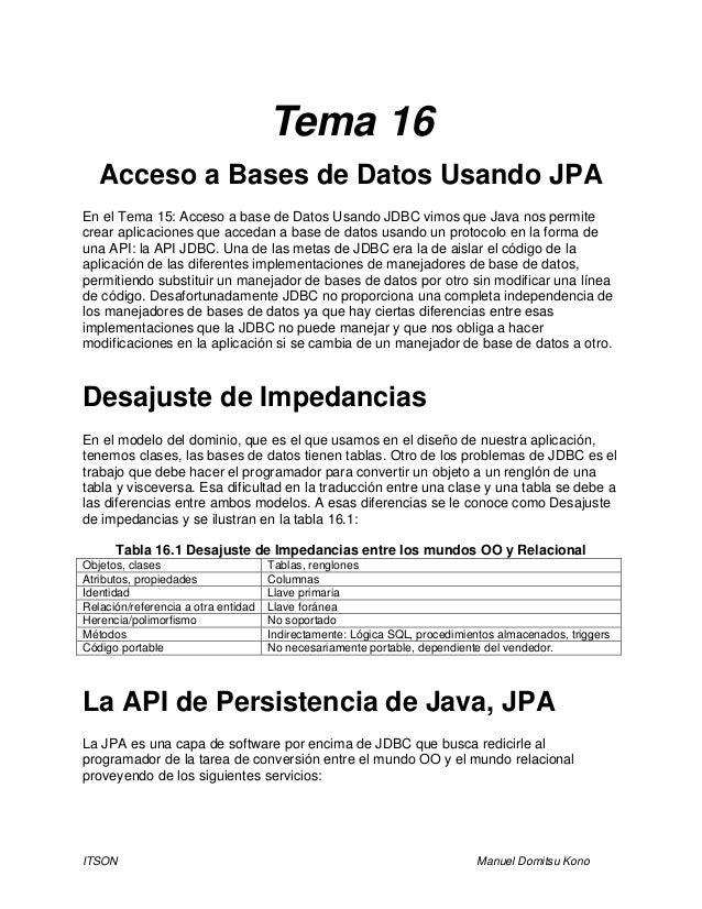Tema 16   acceso a base de datos usando jpa por gio