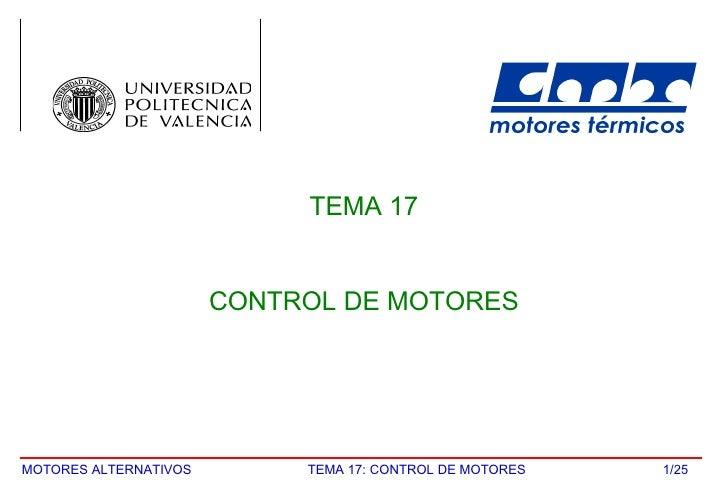 /25 TEMA 17 CONTROL DE MOTORES