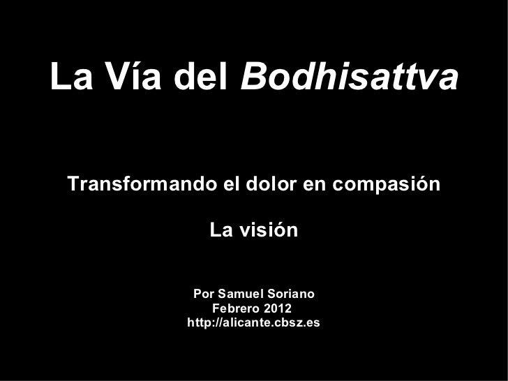 La Vía del BodhisattvaTransformando el dolor en compasión              La visión            Por Samuel Soriano            ...