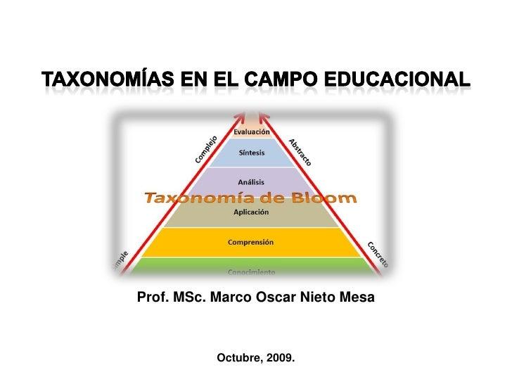 Taxonomias en el campo educacional