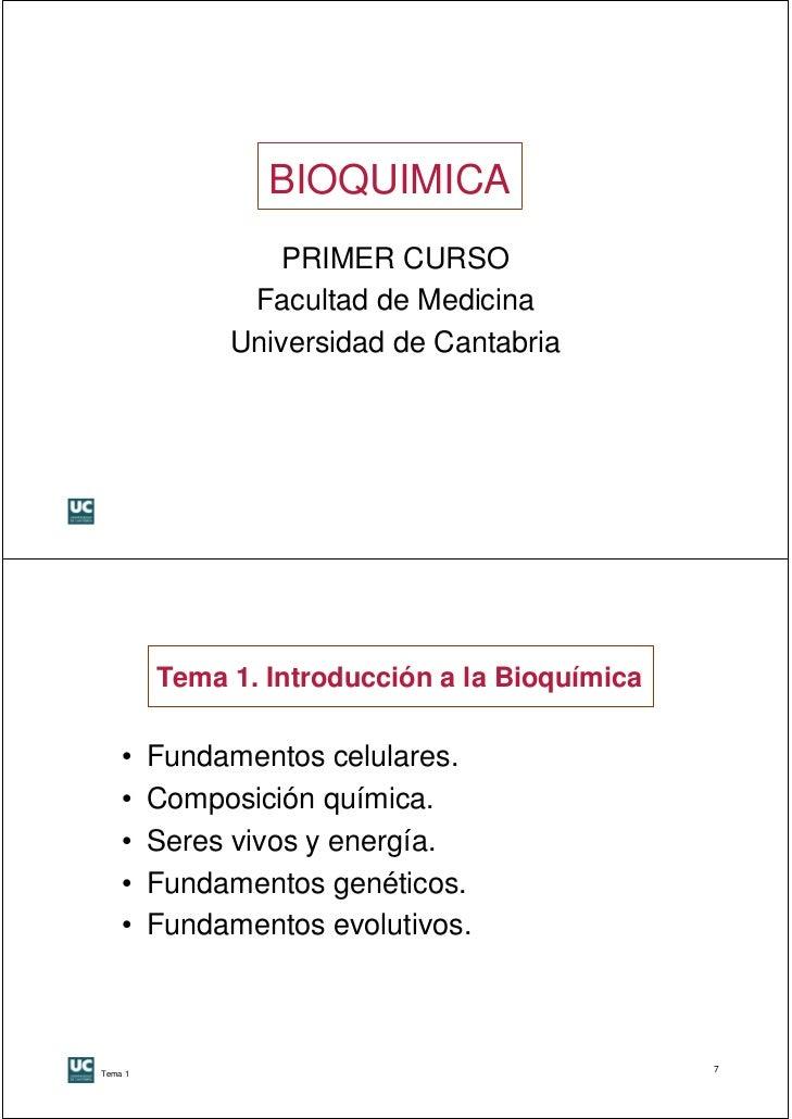 Tema1 introduccion a la bioquímica  1 a