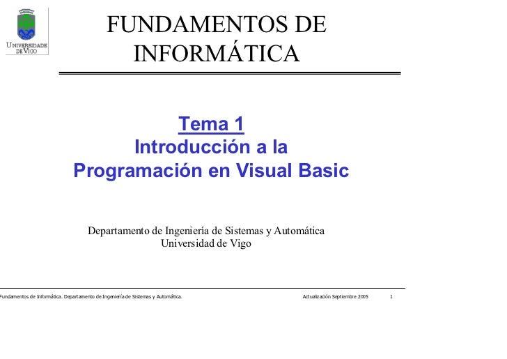 Tema 1 introduccion a la programacion en visual basic