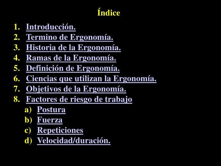 Tema 1 introduccion a la ergonomia for Caracteristicas de la ergonomia