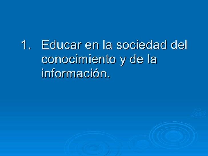 Tema 1 la escuela en la sociedad del conocimiento