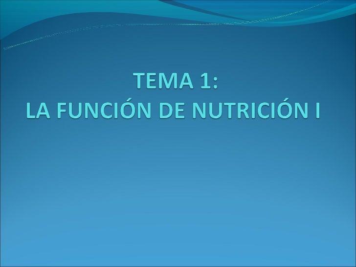¿Por qué necesitamos la nutrición?•La función de nutrición incluye todos los procesos para conseguir los materialesde cons...