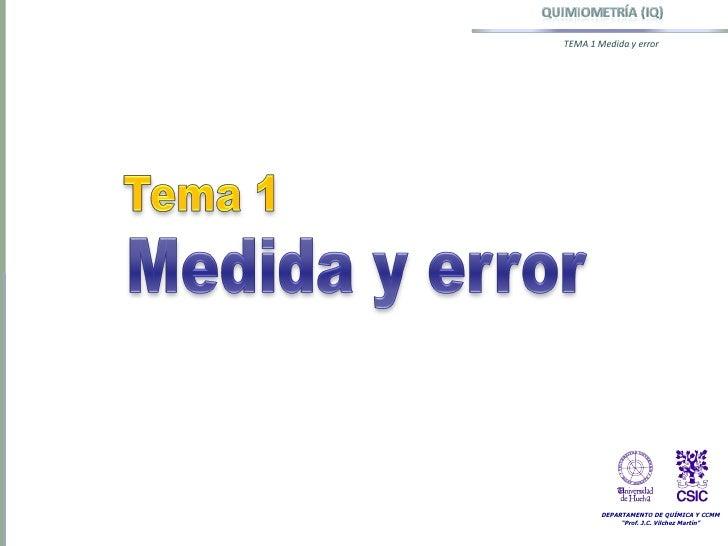 Tema 1 Medida y error. Distribuciones