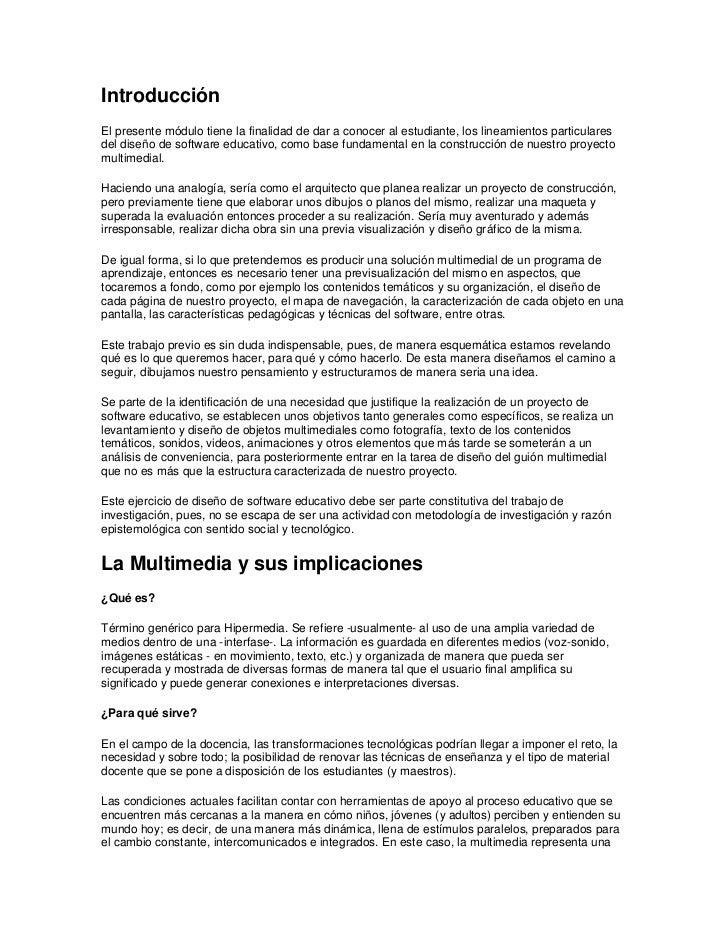 IntroducciónEl presente módulo tiene la finalidad de dar a conocer al estudiante, los lineamientos particularesdel diseño ...