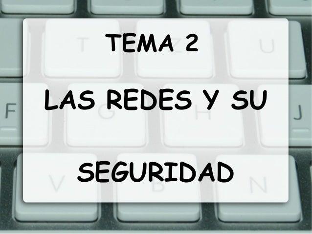 TEMA 2LAS REDES Y SU  SEGURIDAD