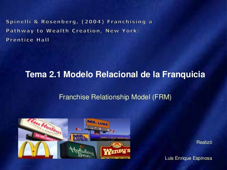 Tema 2.1 modelo relacional franquicia franchise pathway to wealth creation 20 slides