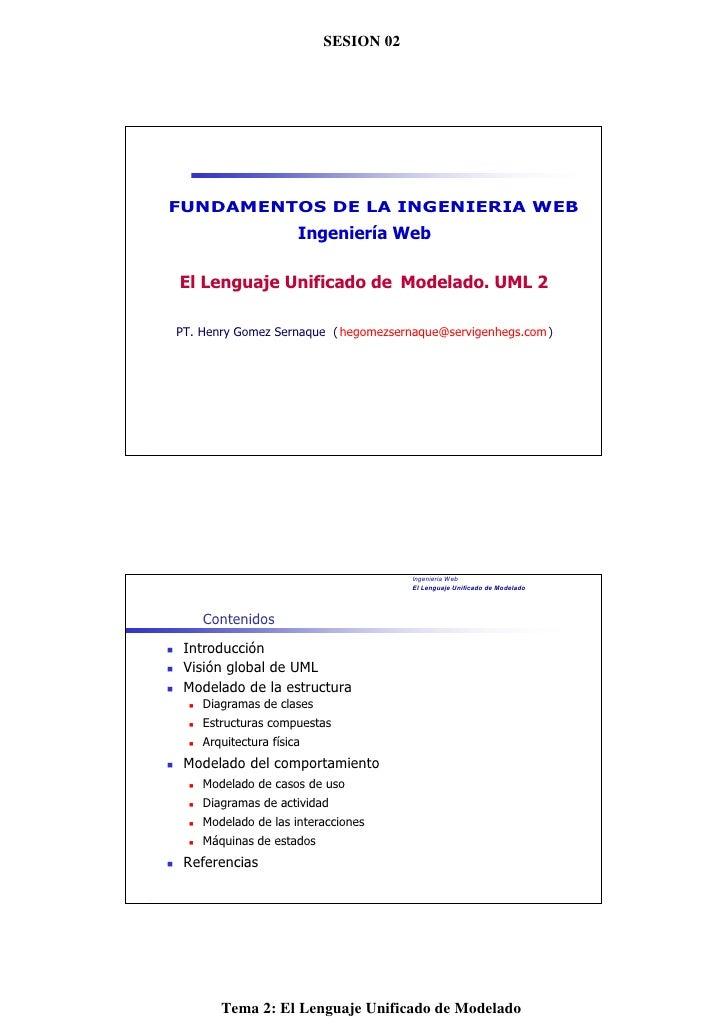 SESION N Web                          Ingeniería °2                                   02FUNDAMENTOS DE LA INGENIERIA WEB  ...