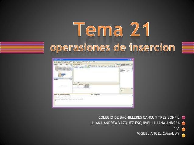 operaciones de insercion