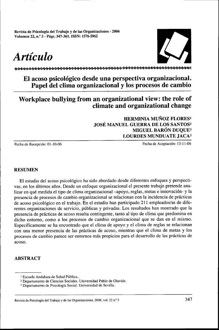 Revista de Psicologia del Trabajo y de las Organizaciones - 2006Voiumen 22, n.° 3 - Pags. 347-361. ISSN: 1576-5962Articulo...