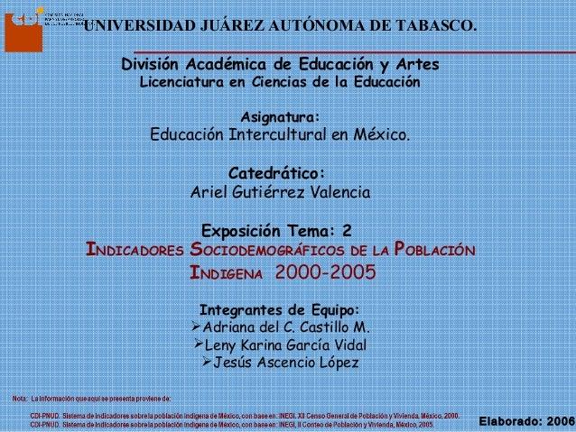 UNIVERSIDAD JUÁREZ AUTÓNOMA DE TABASCO. División Académica de Educación y Artes Licenciatura en Ciencias de la Educación A...
