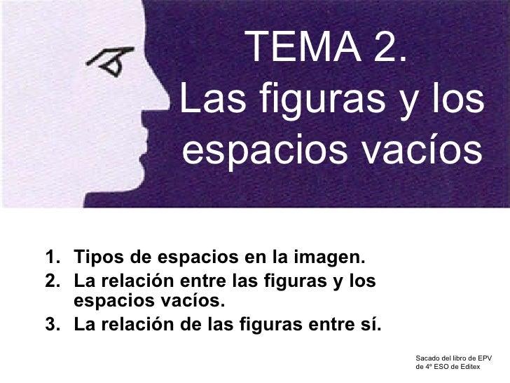 <ul><li>Tipos de espacios en la imagen. </li></ul><ul><li>La relación entre las figuras y los espacios vacíos. </li></ul><...
