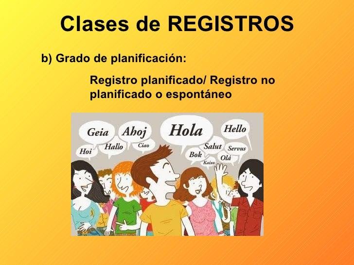 Resultado de imagen de CLASES DE REGISTROS B