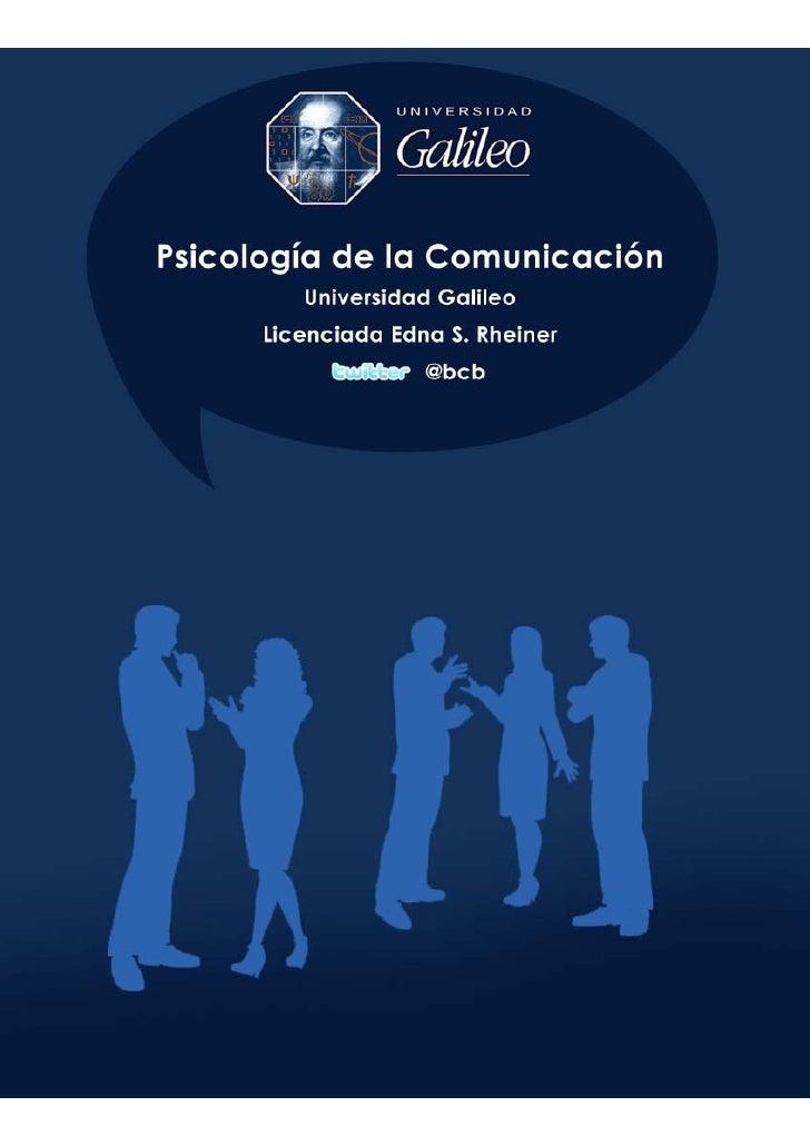 Tema 3 - Psicologia de la Comunicación
