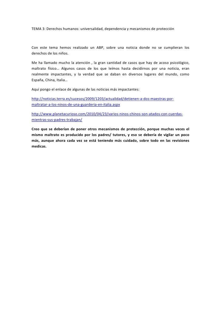 Tema 3.derechos humanos. universalidad, dependencia y mecanismos de protección