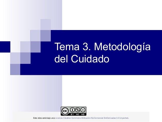 Tema 3. Metodología                     del Cuidado                                            E...
