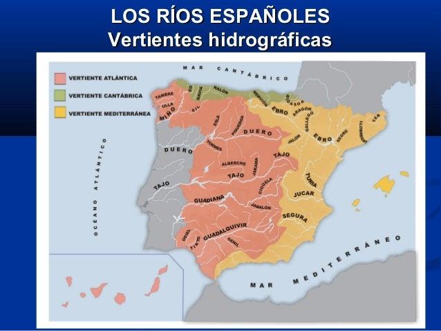 LOS RÍOS ESPAÑOLESLOS RÍOS ESPAÑOLES Vertientes hidrográficasVertientes hidrográficas