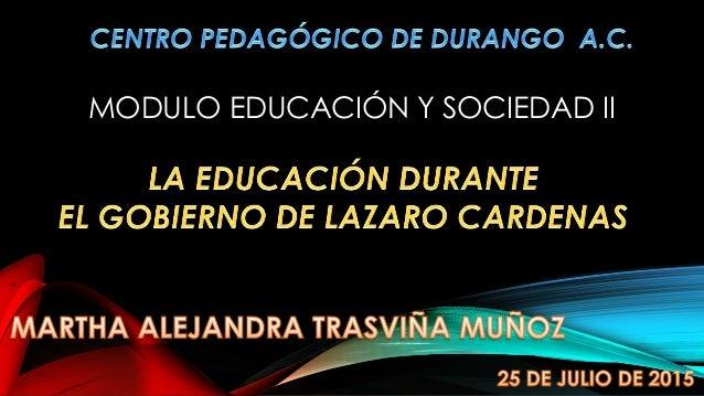 MODULO EDUCACIÓN Y SOCIEDAD II