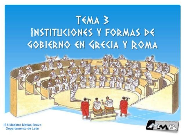 Instituciones políticas de Grecia y de Roma