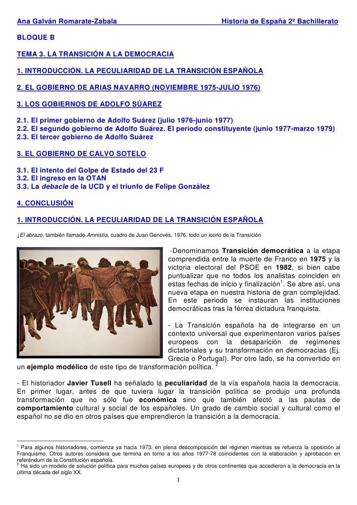 Ana Galván Romarate-Zabala                                                        Historia de España 2º Bachillerato  BLOQ...