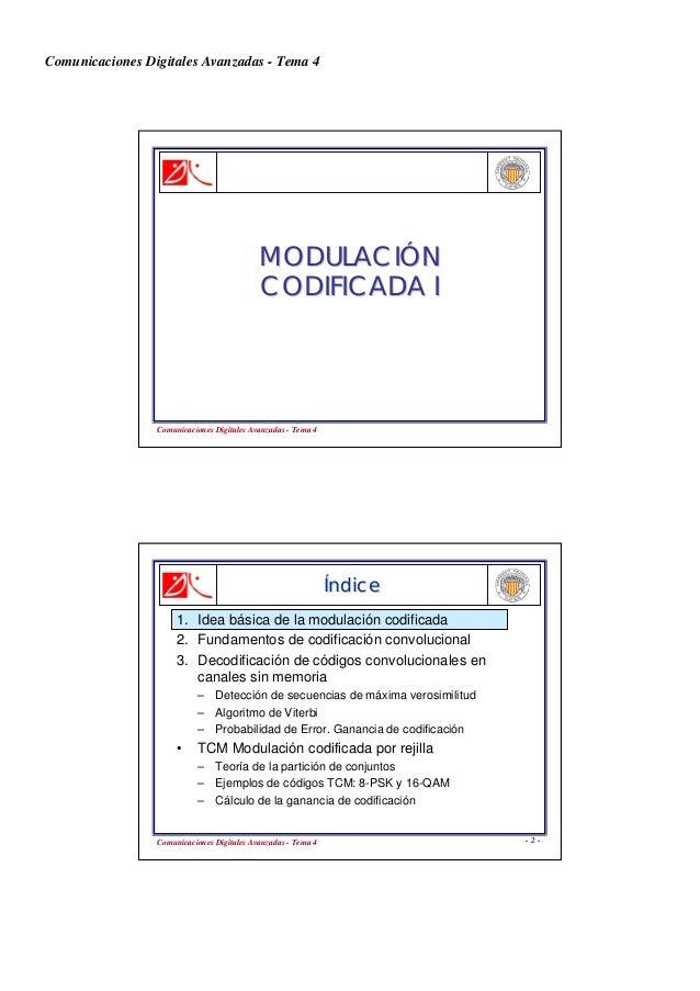 Comunicaciones Digitales Avanzadas - Tema 4 Comunicaciones Digitales Avanzadas - Tema 4 MODULACIMODULACIÓÓNN CODIFICADA IC...