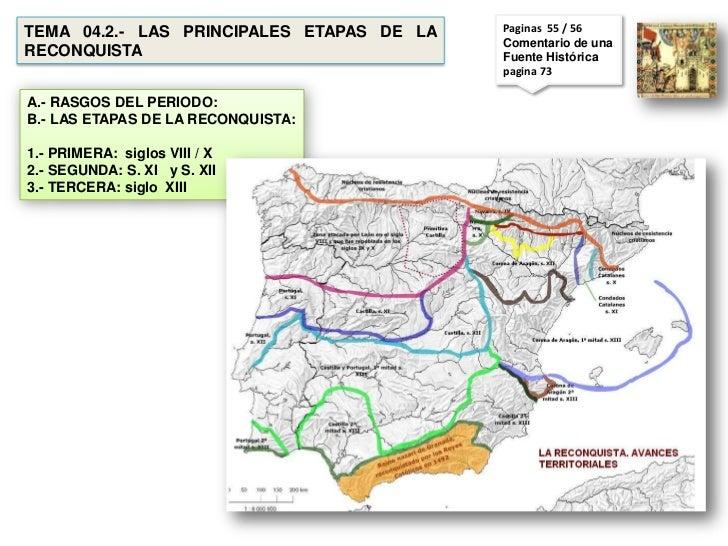 TEMA 04.2.- LAS PRINCIPALES ETAPAS DE LA   Paginas 55 / 56                                           Comentario de unaRECO...
