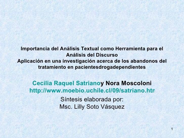 Tema 4 Importancia Del AnáLisis Textual Como Herramienta (Parte 1)