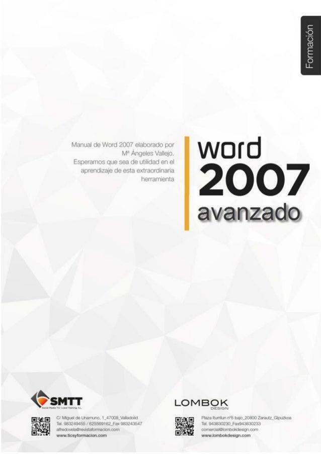 Tema 4. Referencias en Word 2007 C/ Miguel de Unamuno, 1_47008_Valladolid Tel. 983249455 / 625569162_Fax 983243547 alfredo...