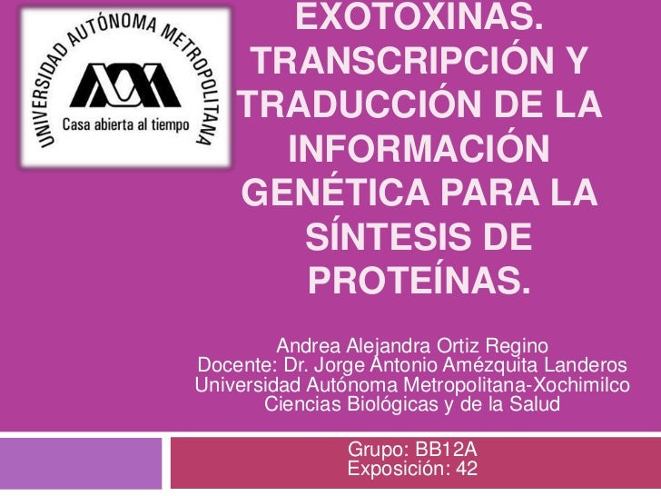 Tema42 producción de exotoxinas