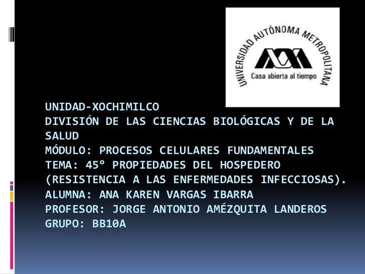 UNIDAD-XOCHIMILCODIVISIÓN DE LAS CIENCIAS BIOLÓGICAS Y DE LASALUDMÓDULO: PROCESOS CELULARES FUNDAMENTALESTEMA: 45° PROPIED...
