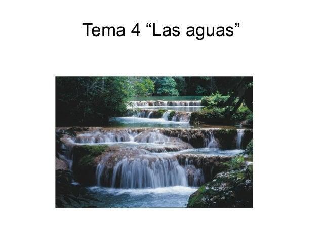 Tema 4, las aguas
