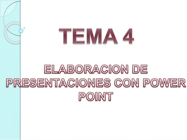 Tema 4 power point