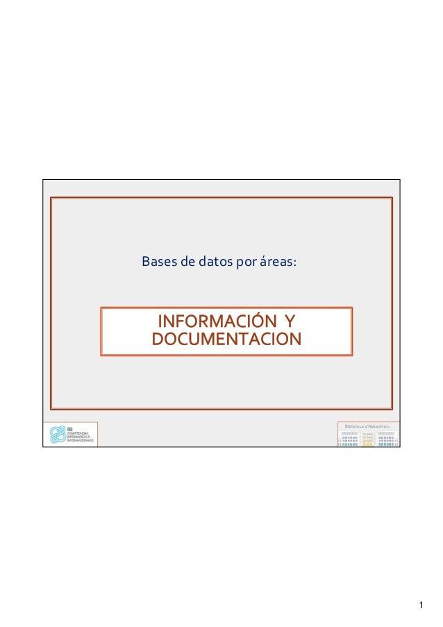 1 Bases de datos por áreas: