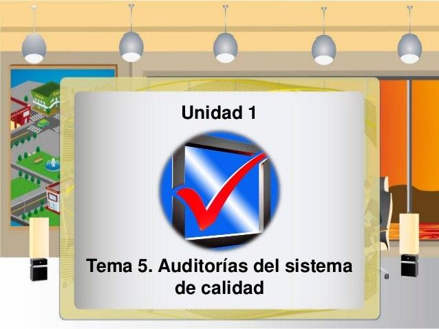 auditorias del sistema de calidad