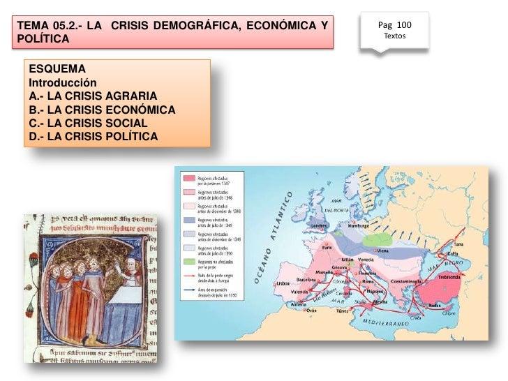 TEMA 05.2.- LA CRISIS DEMOGRÁFICA, ECONÓMICA Y   Pag 100                                                  TextosPOLÍTICA E...