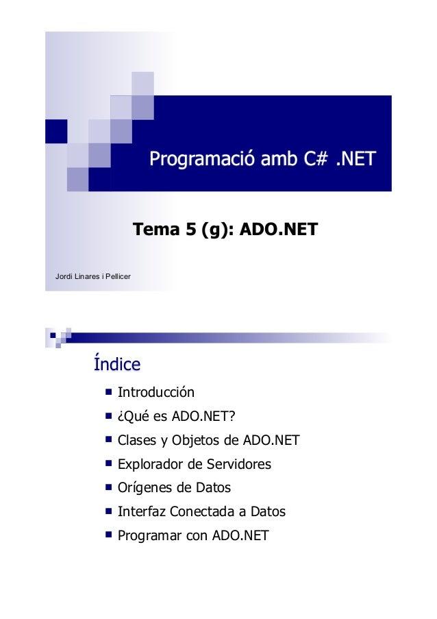 TUTORIAL DE ADO.NET MUY BUENO