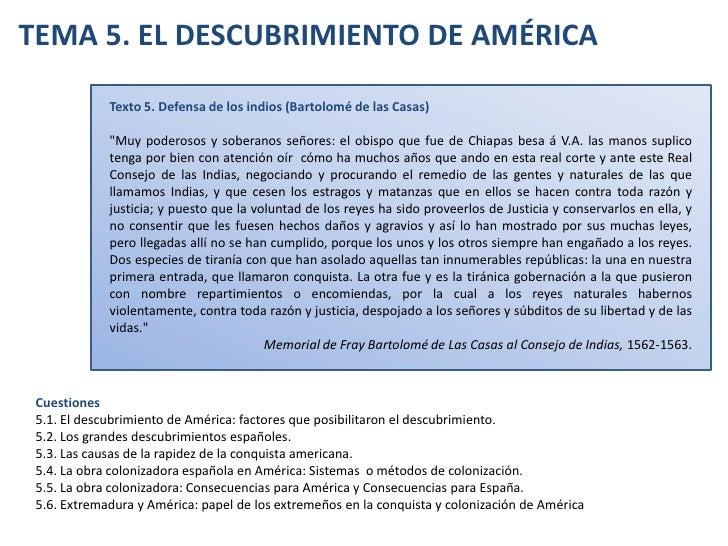 """TEMA 5. EL DESCUBRIMIENTO DE AMÉRICA<br />Texto 5. Defensa de los indios (Bartolomé de las Casas)<br />""""Muy poderosos..."""
