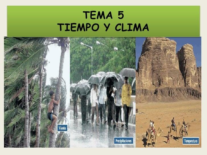 TEMA 5TIEMPO Y CLIMA