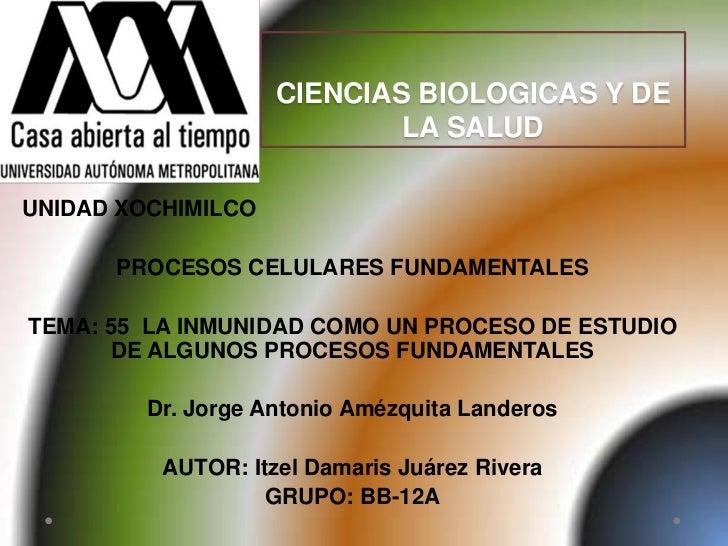 CIENCIAS BIOLOGICAS Y DE                            LA SALUDUNIDAD XOCHIMILCO      PROCESOS CELULARES FUNDAMENTALESTEMA: 5...