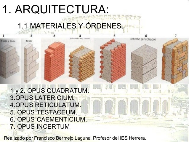 Tema 5 el arte romano arquitectura for 5 tecnicas de la arquitectura
