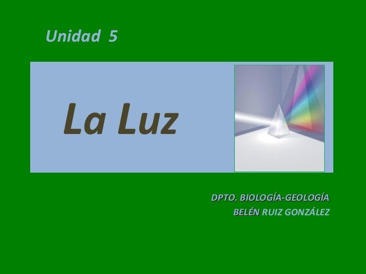 Tema 5 la luz1
