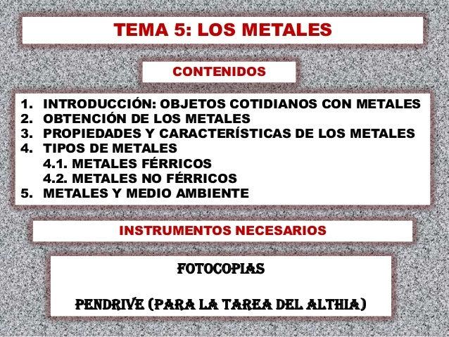 Tema 5 los metales