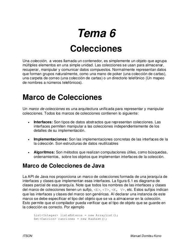 Tema 6   colecciones por gio
