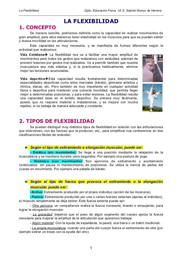 Tema 6. la flexibilidad